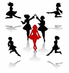 irish dance vector image vector image