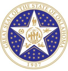 Oklahoma seal vector image vector image
