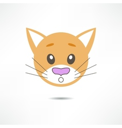 Surprised cat vector image vector image