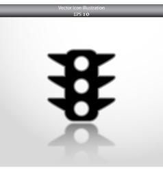 traffic light web flat icon vector image
