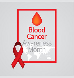 blood cancer awareness month icon vector image vector image