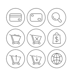 online shoppin icons vector image vector image