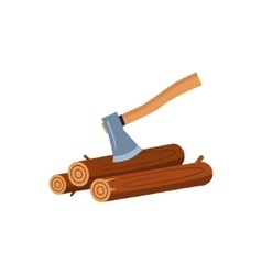 Wood and the axe vector