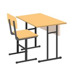 cartoon school desk icon isolated vector image