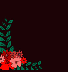 greeting card flowers can be used as invitation vector image