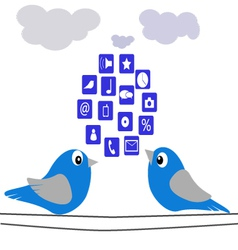 The Birds-and-cloud vector image