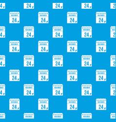 24 november calendar pattern seamless blue vector image