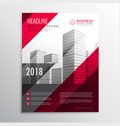 Abstract brochure flyer design template in red vector