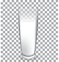 abstract milk glass on transparent backgroun vector image