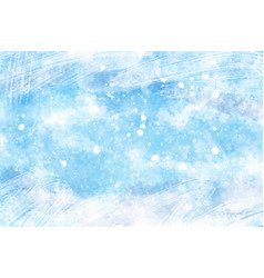abstract watercolor snowfall or cracked ice vector image