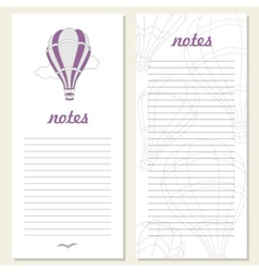 air balloons on notebook vector image