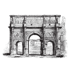 Arch of constantine its interest to its vector