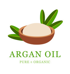 argan oil skin care cosmetic argan seeds for the vector image