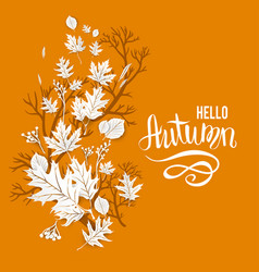 Autumn leaves motif vector