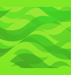 backdrop with green waves vector image
