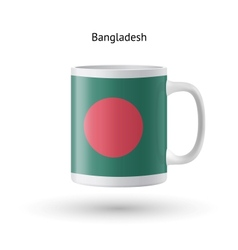 Bangladesh flag souvenir mug on white background vector