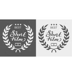 Best short film Laurel Wreath Award vector image