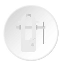 Blacksmiths vice icon circle vector