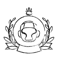 Boxing helmet icon vector
