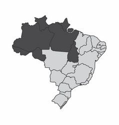 Brazil north region vector