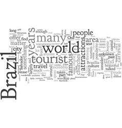 Brazil s tourist attractions vector