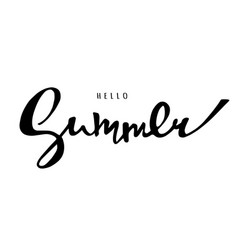 bright poster with hand lettering hello summer vector image