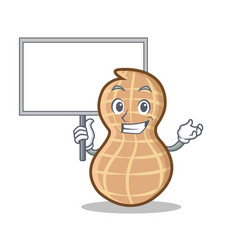 Bring board peanut character cartoon style vector