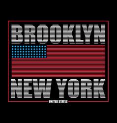 Brooklyn ny flag t-shirt vector