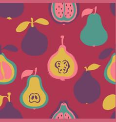 brush grunge exotic fruits seamless pattern vector image