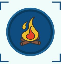 campfire color icon vector image