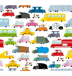 Car seamless pattern Background of transport in vector image