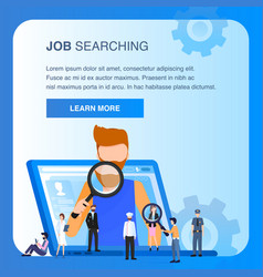 character job searching man hold magnifying glass vector image