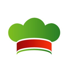 Chef hat with colors of Italian flag vector