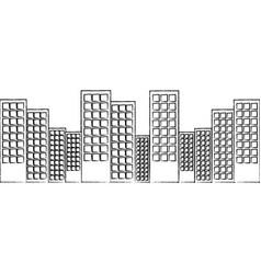 city skyline buildings icon image vector image