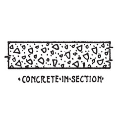 concrete in section material symbol subbase vector image
