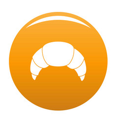 croissant icon orange vector image