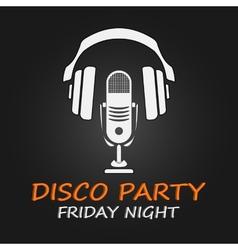 Disco party poster vector
