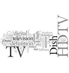 Dish tv hdtv vector