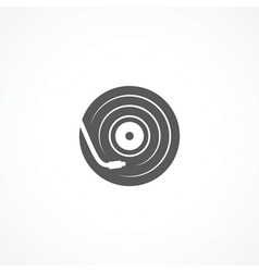 DJ icon vector