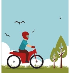 extreme sports design isolated vector image