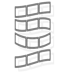 Filmstrips film rolls for photographic concepts vector