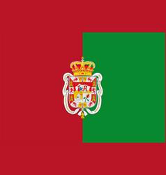 Flag granada city in andalusia spain vector