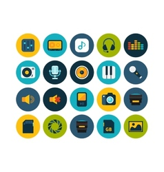 Flat icons set 11 vector image