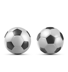 football soccer ball isolated on white background vector image