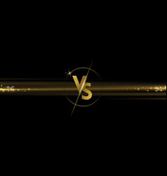 golden shining versus logo on black background vector image
