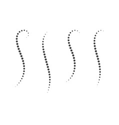 halftone spine circle dots vector image