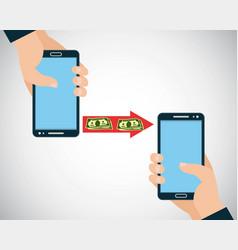 handphone payment banner vector image