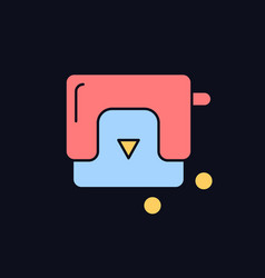 Hole-punch rgb color icon for dark theme vector
