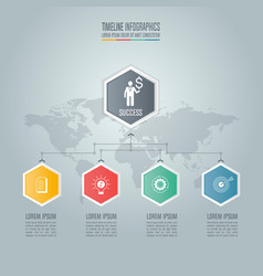 Infographic business concept with 4 options vector