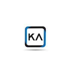 initial letter ka logo template design vector image
